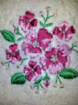 FLOWER 2 PERSONALISED FACE CLOTH